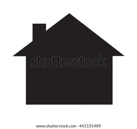 home symbol vector - stock vector