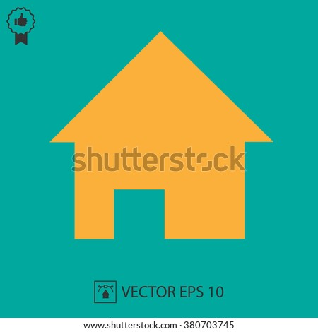 Home vector icon EPS 10. Simple isolated house symbol. - stock vector