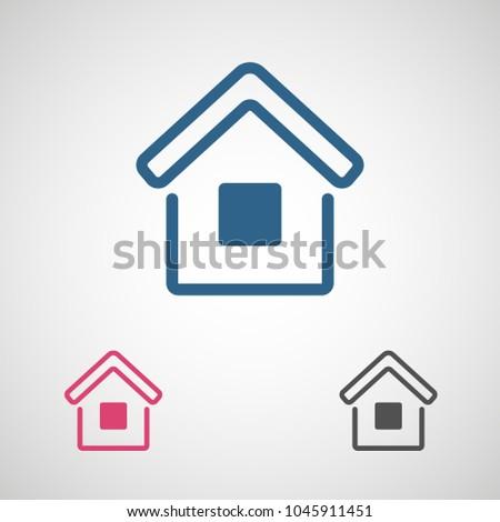 Home Vector Icon House Icon Estate Stock Vector 1045911451
