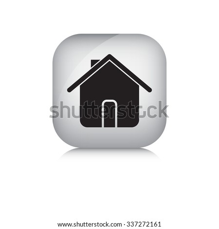 Home vector icon in isolate white background. - stock vector