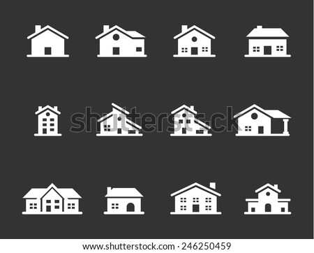 Home Vector Icons - stock vector