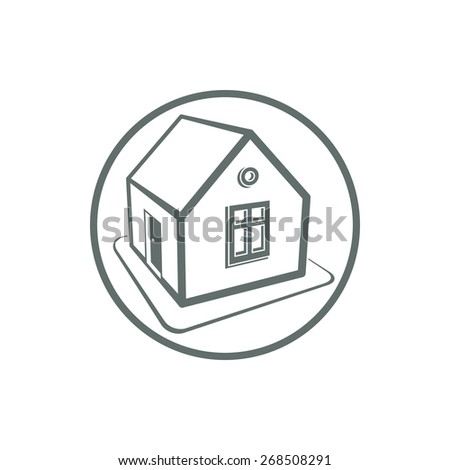 Home vector symbol, can be used in advertising and web design. Property simple icon isolated on white.