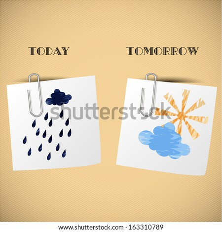 Home weather forecast for stickers - stock vector