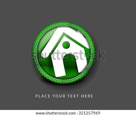 Home Web Icon. Vector Design - stock vector
