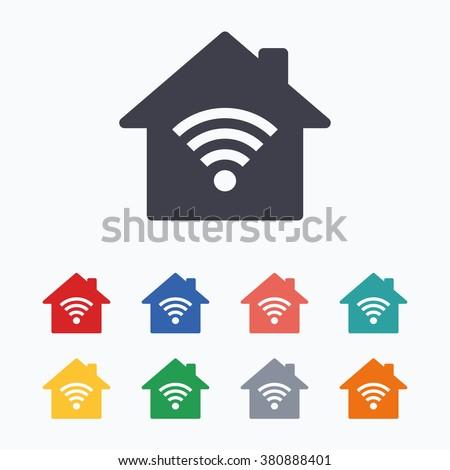 House Wifi Signal Smart Home Concept Stock Vector 739965187 ...