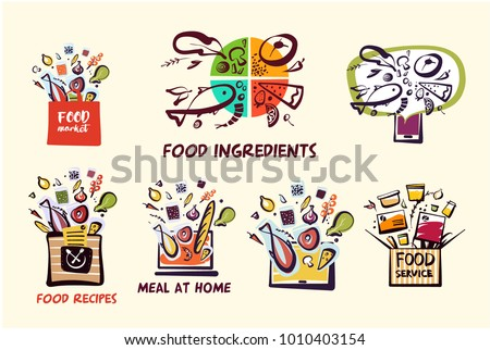 Homemade Cuisine Home Office Template Concept Stock Vector HD ...