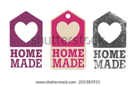 Homemade label - stock vector