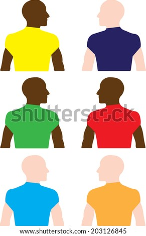 Homosexuality and Race - stock vector