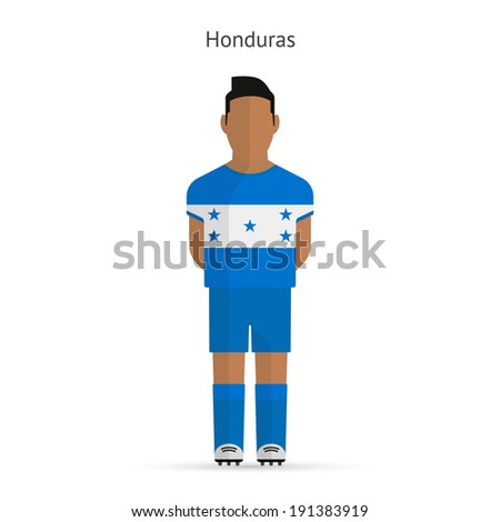 Honduras football player. Soccer uniform. Vector illustration. - stock vector