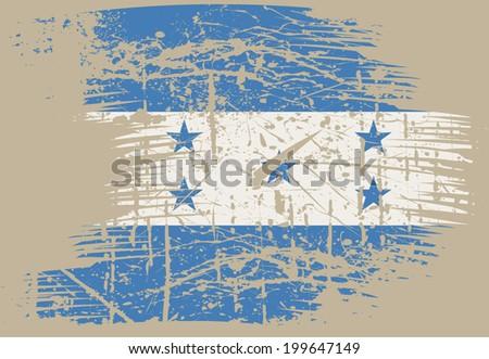 Honduras grunge flag - stock vector