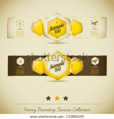 Honey Banner Collection - stock vector