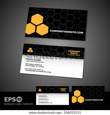 Honey comb science business card template stock vector 106033511 honey comb science business card template with light textured front colourmoves