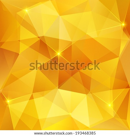 Honey crystal vector abstract pattern - stock vector