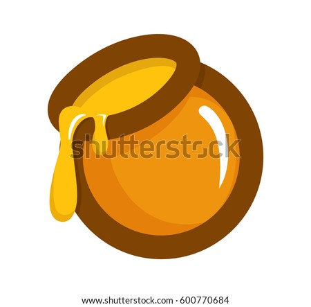 honey jar cartoon vector illustartion icon stock vector