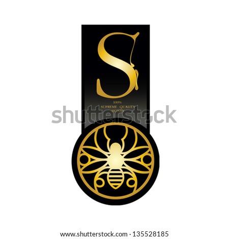 Honey label - stock vector