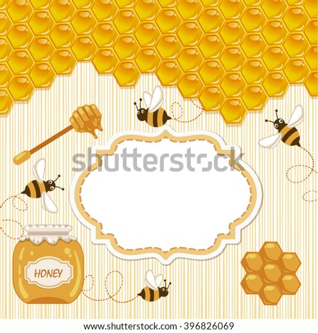 Honey template background.