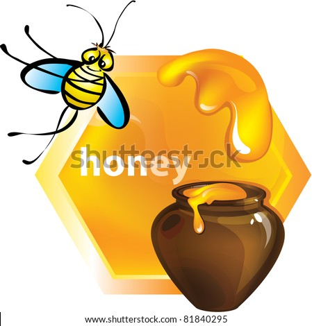 honey. vector