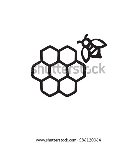 Honeycomb Bee Sketch Icon Web Mobile Stock Vector Royalty Free