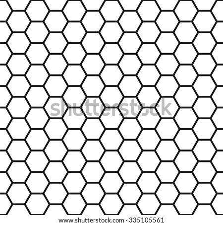 Honeycomb background, seamless hexagons pattern, vector illustration - stock vector