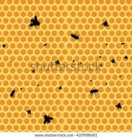 honeycomb background - vector illustration  - stock vector