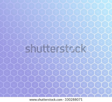 Honeycomb inspired Abstract geometric Background of hexagons and triangles in colors of lavender. Vector regular Texture. - stock vector