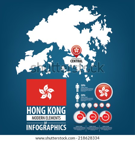Hong kong hong kong special administrative republic stock vector hong kong hong kong special administrativepublic of china flag asia gumiabroncs Images
