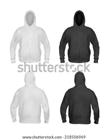 Black Hoodie Vector Stock Images, Royalty-Free Images & Vectors