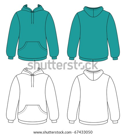 Hoodie with pockets - stock vector