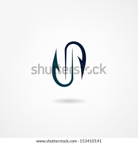hook icon - stock vector