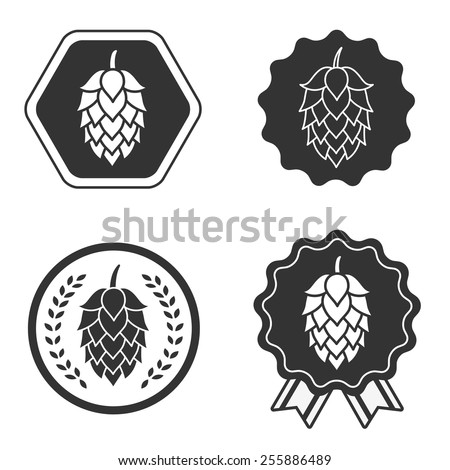 Hops beer stock images royalty free images vectors for Craft beer logo design