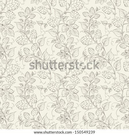 Hop seamless pattern. Vector illustration. - stock vector