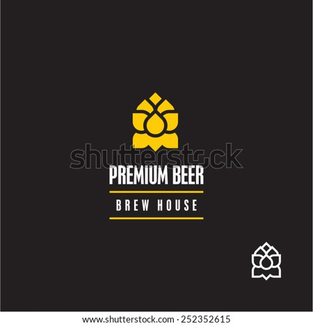 Hop vector icon. Beer company sign. - stock vector