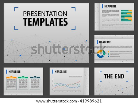 Horizontal Annual Report Visualization Layout Powerpoint Stock - Ux roadmap template