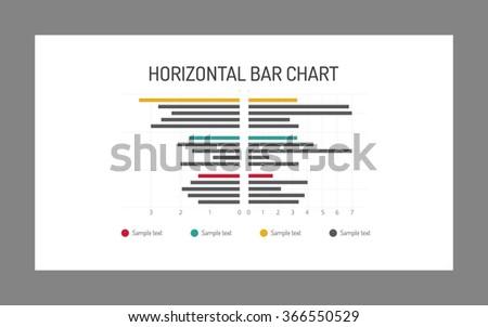 Horizontal bar chart - stock vector