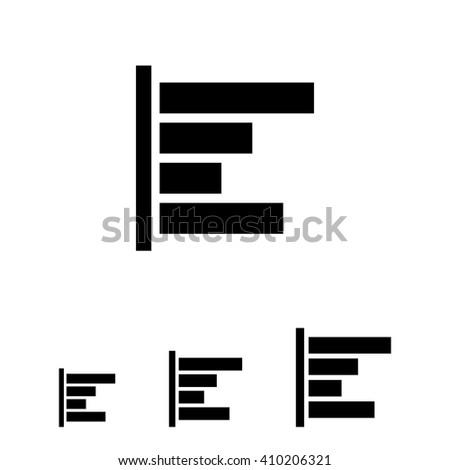 Horizontal bar chart icon - stock vector