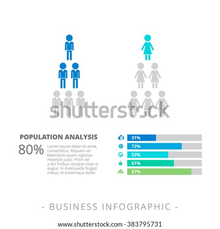 Horizontal Bar Chart Template  Stock Vector   Shutterstock