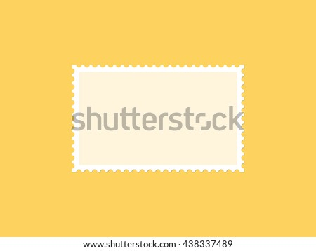 Horizontal blank postage stamp, flat design - stock vector