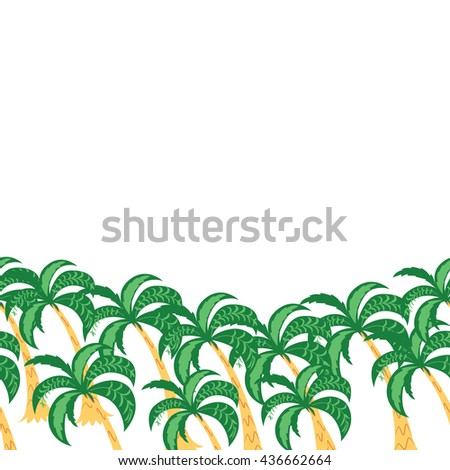 horizontal border palm tree leaves background stock photo photo rh shutterstock com palm tree border clip art free Coconut Palm Tree Clip Art