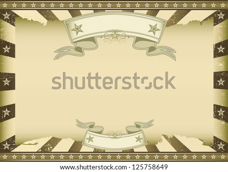Horizontal brown vintage sunbeams. A vintage horizontal poster with a large copy space for you. Perfect size for a screen. - stock vector