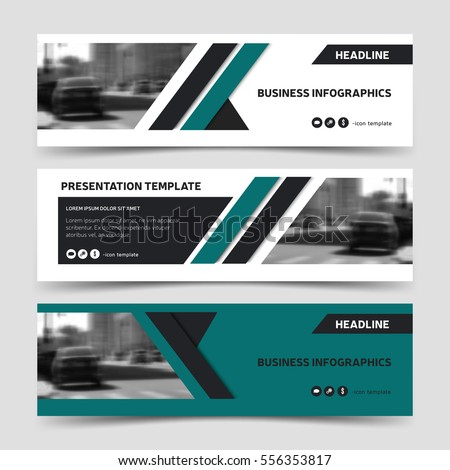 horizontal business banner templates vector corporate stock vector 556353817 shutterstock. Black Bedroom Furniture Sets. Home Design Ideas