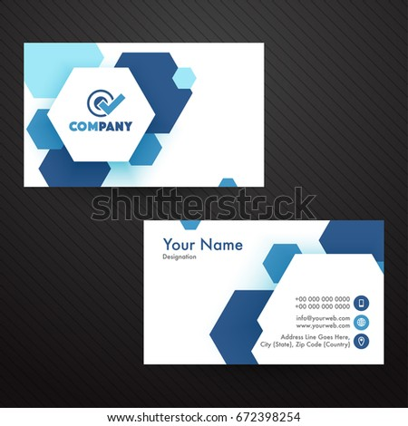 Horizontal Business Card Visiting Card Name Stock Vector Royalty - Horizontal business card template