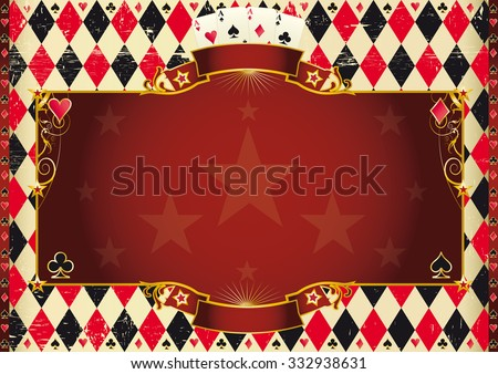 Horizontal Casino background. A casino background for your poker tour - stock vector