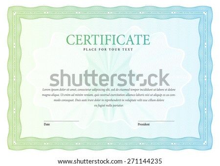 horizontal Certificate and diplomas ?emplate. Vector - stock vector