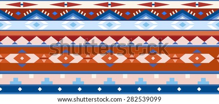 Horizontal geometric jacquard pattern in ethnic style