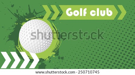 Horizontal golf club banner