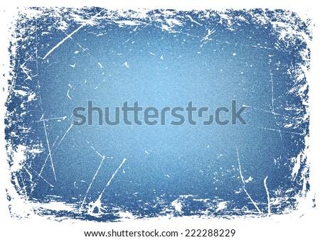 horizontal grunge denim background.vector illustration - stock vector