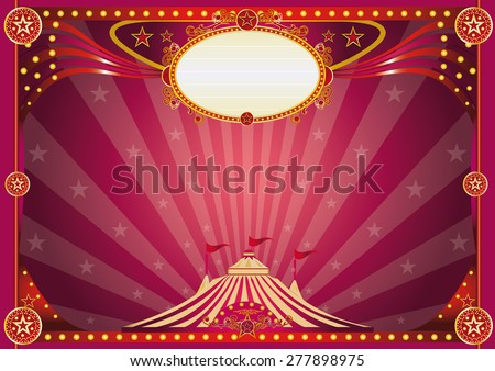 Horizontal magic circus background . Horizontal purple circus background for your show. - stock vector