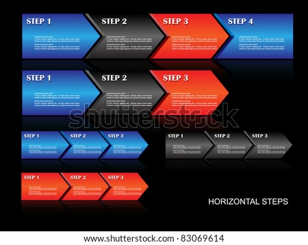 Horizontal steps-Vector - stock vector