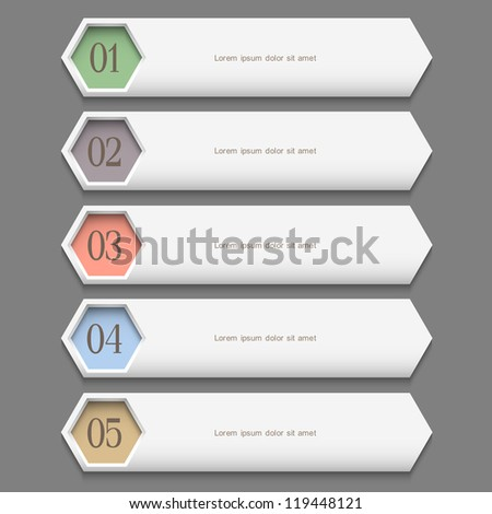 Horizontal trendy Design template. Vector website layout - stock vector