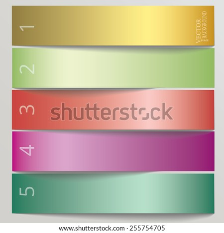 Horizontal Vector Sample stickers for various banner design options - stock vector